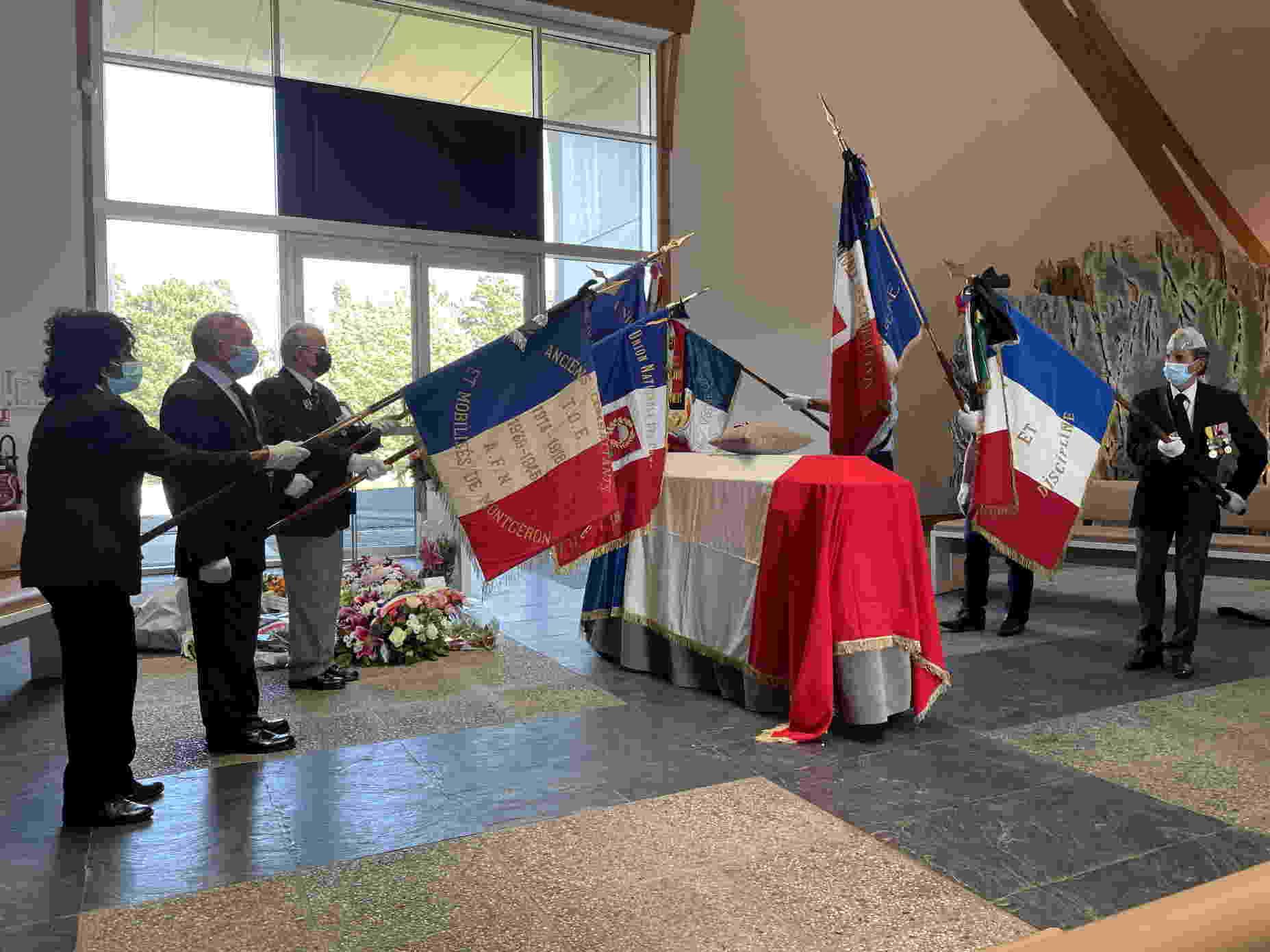 Obsèques de Claude Willems Président de l'UNC Vigneux
